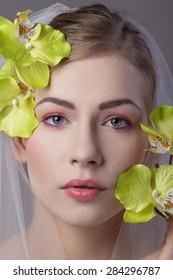 Portrait young bride