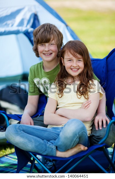 Cute Young Caucasian Brother And Sister Portrait Stock