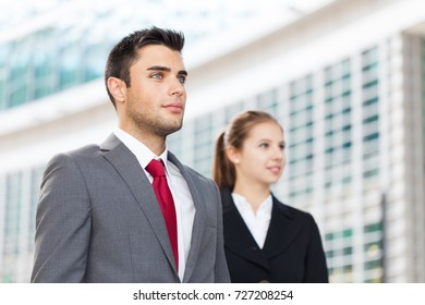 Portrait of young business partners