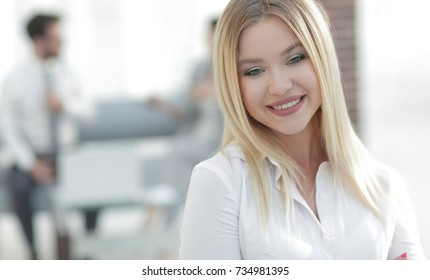 portrait of young business woman
