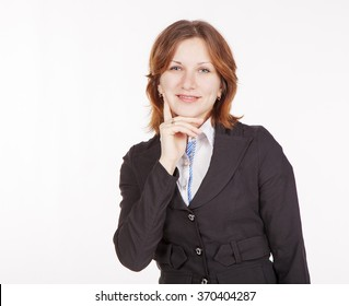 portrait of young business woman closeup