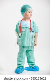 Portrait of young calm nurse boy with stethoscope
