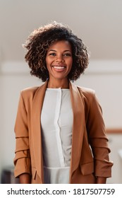 Portrait of young cheerful african american woman