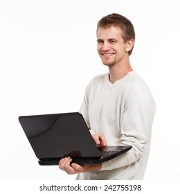 portrait of a young computer technician