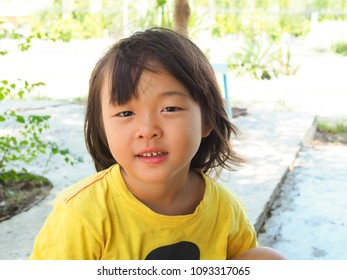 Portrait of young cute asia girl