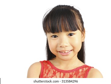 Portrait of young cute asian girl.