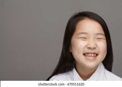 Portrait of young cute asian little girl