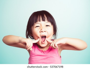 Portrait of young cute girl