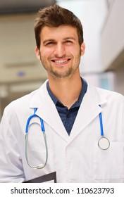 Portrait Of Young Doctor, Indoor