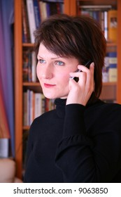 Portrait of a Young female talking on the phone