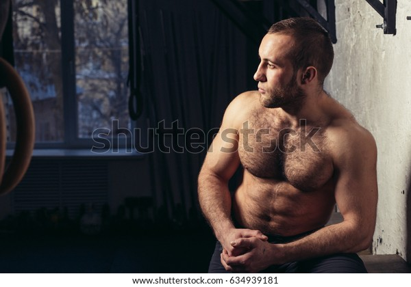 Portrait of a young fit athlete in sportswear