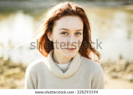 Busty redheads outdoors
