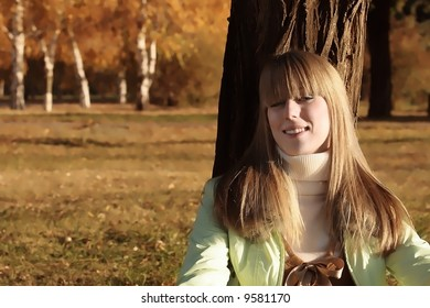 Portrait of a young girl looking up at the camera