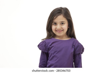 Portrait of a young girl smiling