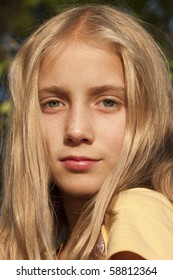 portrait of a young girl, teenager