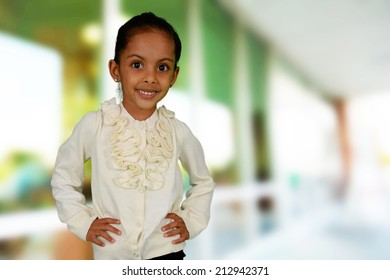 Portrait of a young girl who is happy