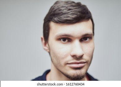 portrait of a young guy of Caucasian appearance 20-29 years old