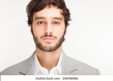 Portrait of a young handsome man