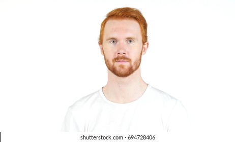 Portrait, Young handsome Red head man