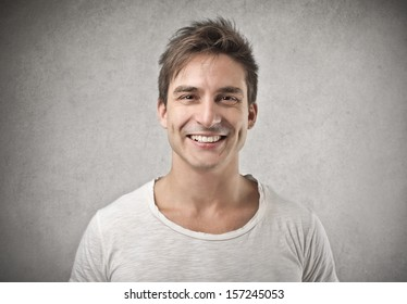 portrait of young happy man