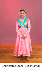Portrait of a Young Kathak Classical Indian dancer in Costume