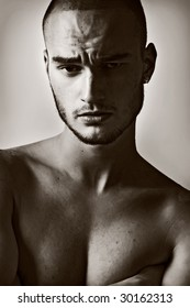 portrait of a young male model