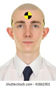 Portrait of the young man - crash dummy