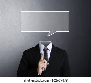 portrait of a young man with a empty speech bubble