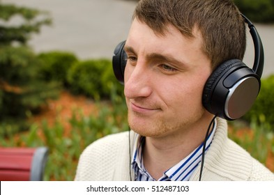 Portrait of young man in headphones