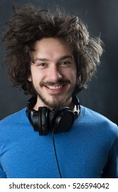 Portrait of young man with headphones