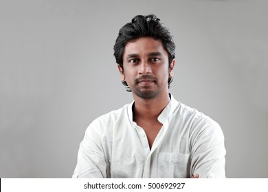 Portrait of a young man of Indian origin