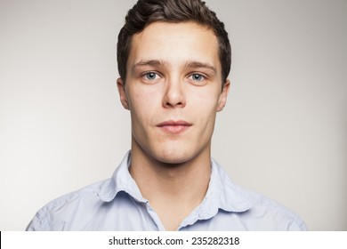 Portrait of young man in studio setting