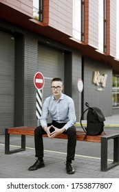 Portrait of a young man in an urban environment