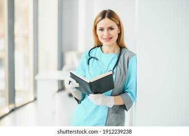 Portrait of a young medical worker with positive attitude