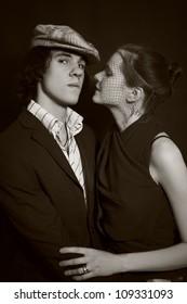 portrait of young men and women closeup