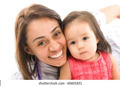 portrait of a young mother with her Daughter