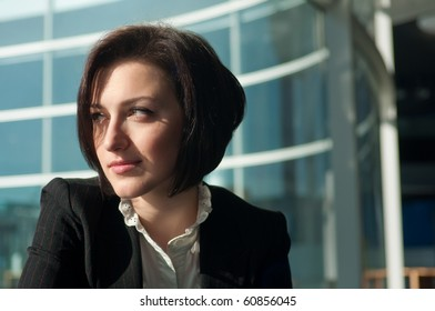 Portrait of a young and pretty businesswoman