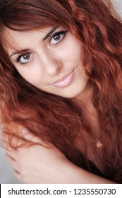 Portrait of Young Red hair Girl