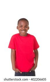 Portrait of a young school aged boy