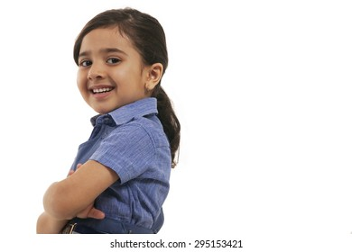 Portrait of a young school girl smiling