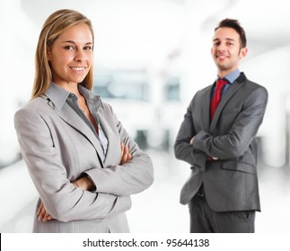 Portrait of a young smiling businesswoman
