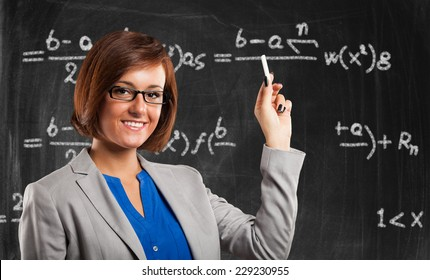 Portrait of a young smiling teacher