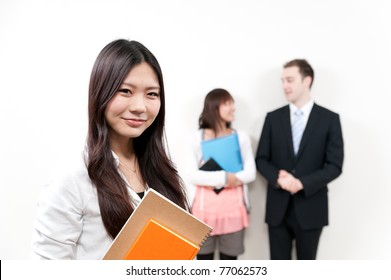 a portrait of young student and teacher