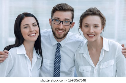 Portrait of a young successful business team