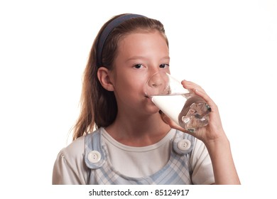 portrait of a young teenager girl drinks water