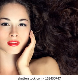 Portrait of young woman with beautiful healthy face