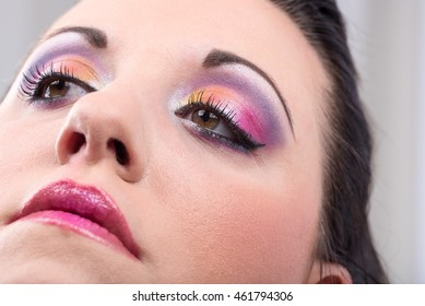 Portrait of a young woman with fashion makeup