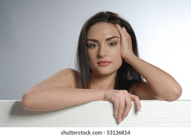 portrait of young woman with make up
