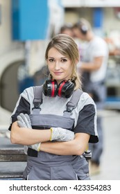 portrait of young woman metallurgist