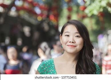 Portrait of Young Woman in Nanluoguxiang, Beijing